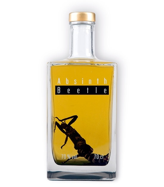 New Bottle of Absinth Beetle - Strong Czech Absinth with Giant Bug Inside.