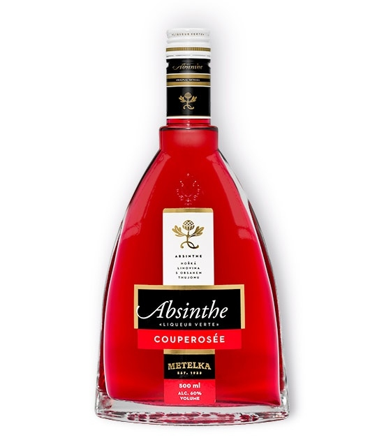 Premium Bottle of Absinthe Couperose, Bohemian Style Red Absinthe